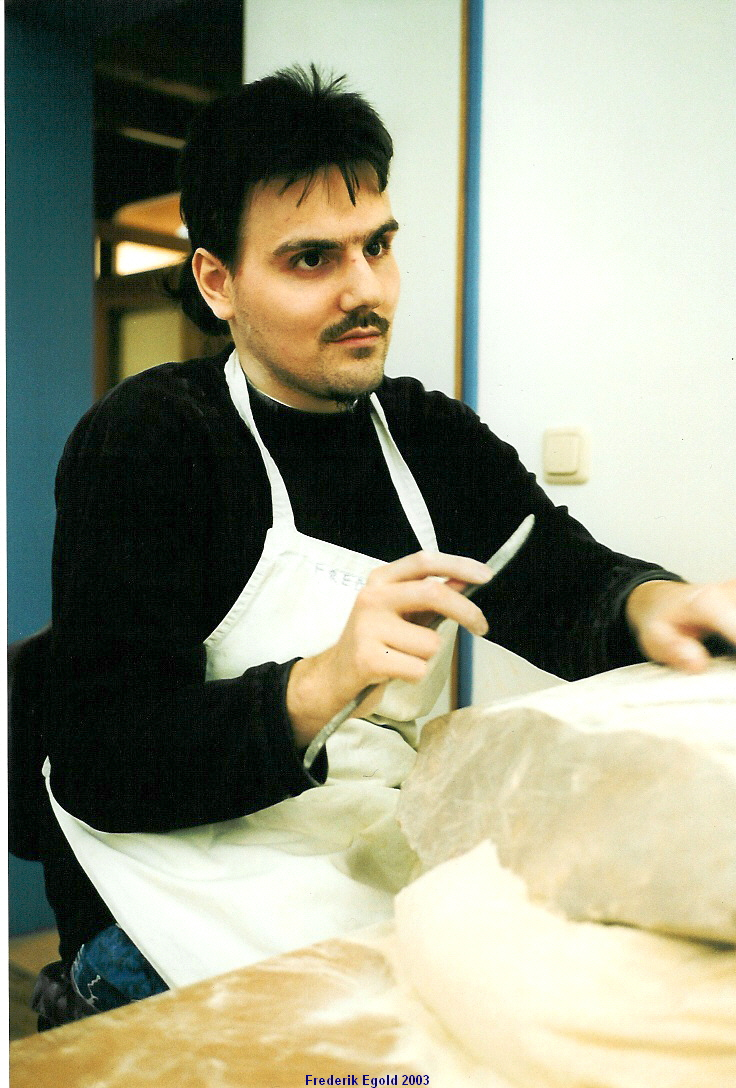 Frederik Egold  iin his studio in Frankfurt